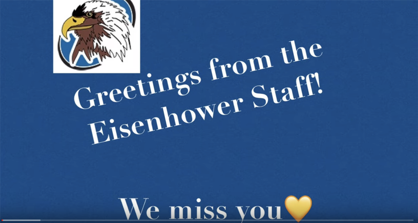Greeting From the Eisenhower Staff