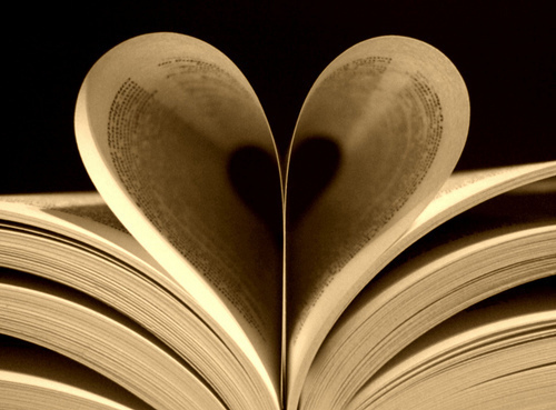 Book with Pages shaped as heart