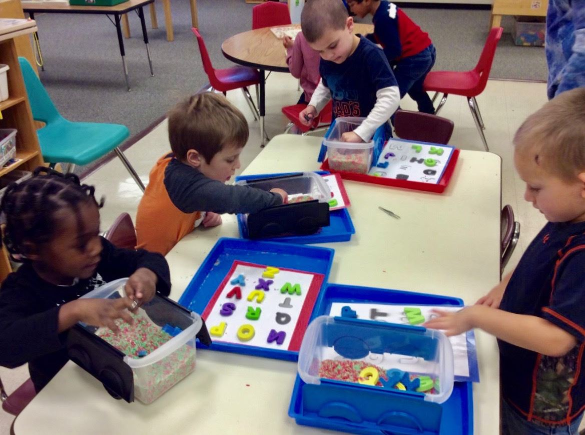 students in preschool