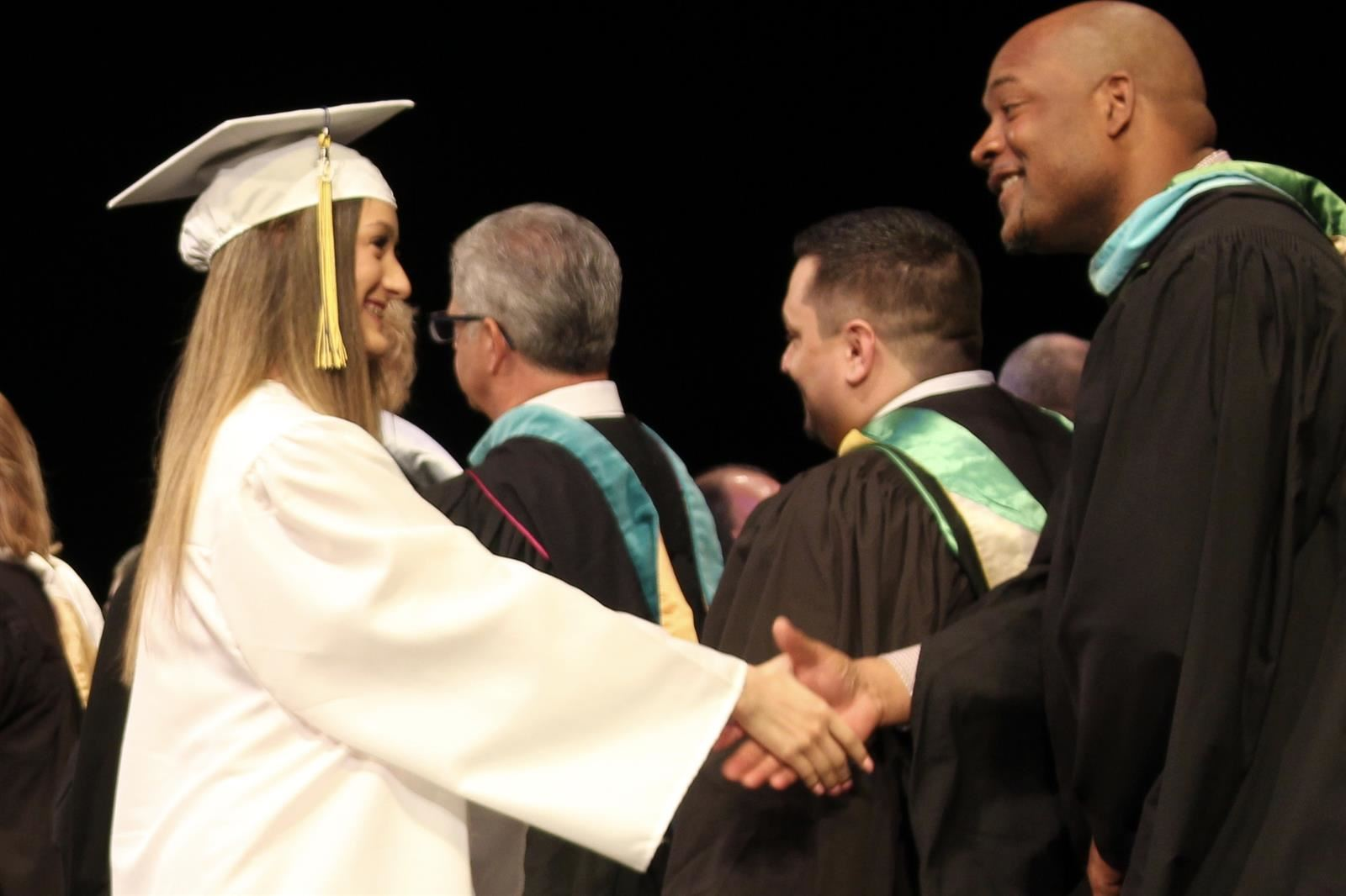 handshake at graduation