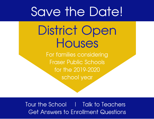 Save the Date for our open houses